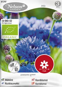 Bilde av Kornblomst blandede farger - Centaurea cyanus - Organic