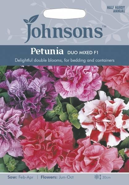 Petunia 'Duo Mixed' F1 - Petunia grandiflora