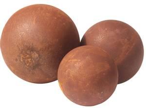 Bilde av Dekorkule, melon i rust - 50 cm