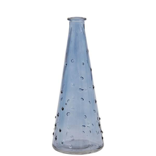 Minivase, bobbles blå 18 cm