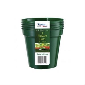 Bilde av Plastpotte 10 cm, 5 pk, grønn