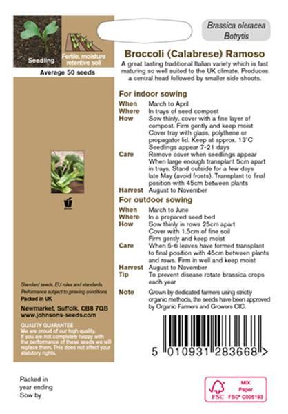 Brokkoli 'Ramoso' - Organic