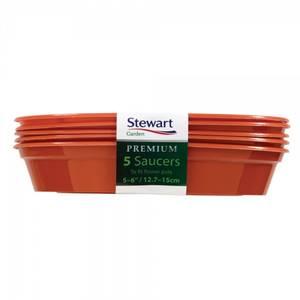 Bilde av Plastfat til 12,7–15,2 cm potter, 5 pk, brun