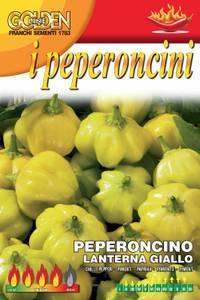 Bilde av Chilipepper 'Lanterna Giallo' - Capsicum chinense